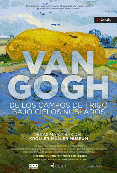 Van Gogh de los campos de trigo bajo los cielos nublados