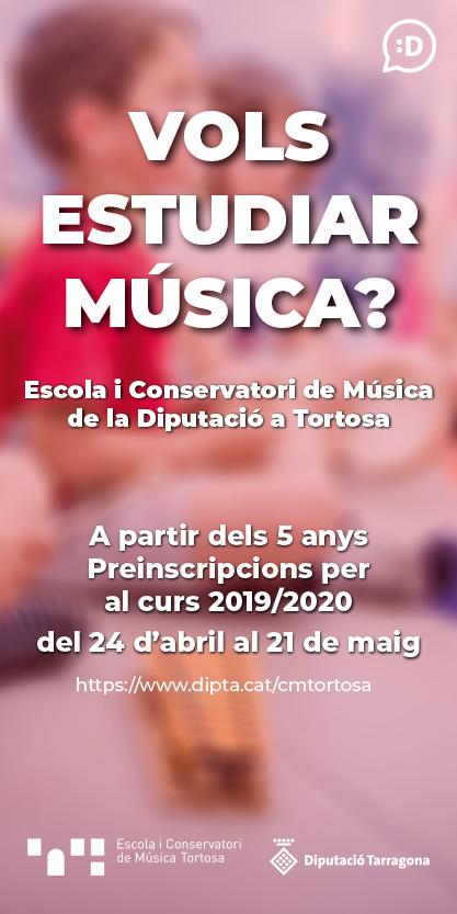 Diputació de Tarragona_012 Preinscripcions Escoles Música