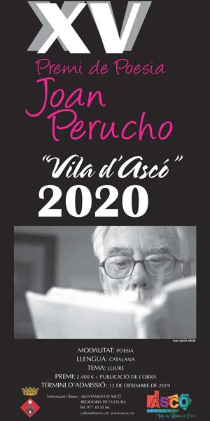 XV Premi de Poesia Joan Perucho - Ascó