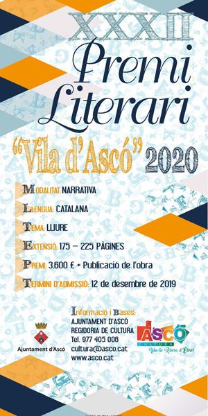 XXXII Premi Literari Vila d'Ascó