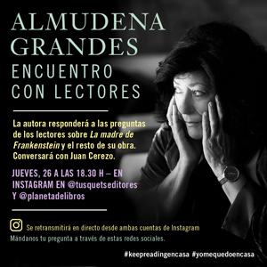 Encuentro con lectores: Almudena Grandes, Confinament, 2020