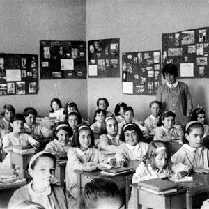 Alumes d'una escola durant el franquisme