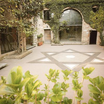 Pati del Museu d'Història dels Jueus a Girona