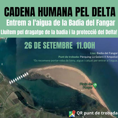 Cadena humana pel Delta - Badia el Fangar 2021