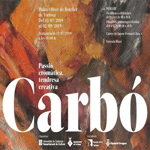 Exposició 'Carbó: passió cromàtica, tendresa creativa' - Tortosa 2019