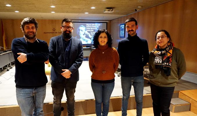 Malcolm Otero, Manel Gómez i participants dels actes del 30è aniversari de la mort de Carlos Barral