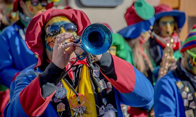 Una comparsa de Carnaval