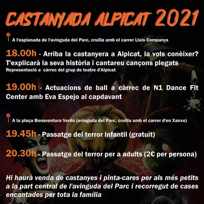 Castanyada i Halloween a Alpicat, 2021
