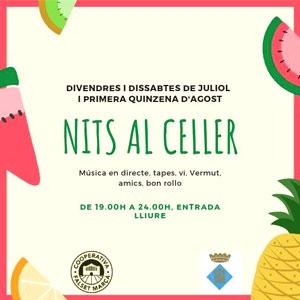 Cicle d'Estiu Nits al Celler, Cooperativa de Falset-Marçà, 2019