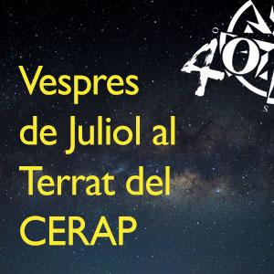 Vespres de juliol al Terrat del CERAP, 2019