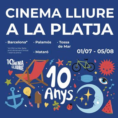 Cinema lliure a la platja, Barcelona, Empordà, Girona, 2021