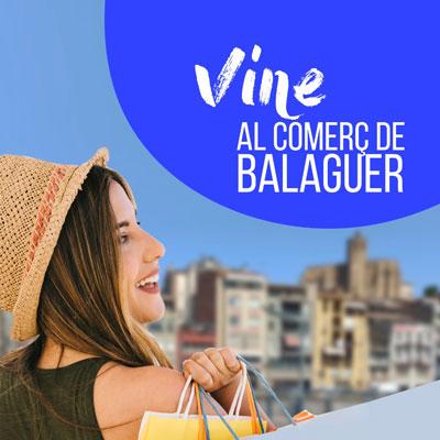 Campanya 'Som comerç, vine al comerç de Balaguer' a Balaguer, 2020