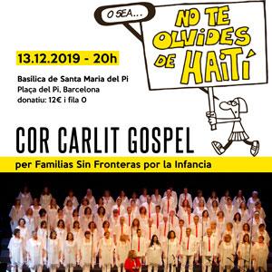 Concert Solidari del Cor Carlit Gospel 'No te olvides de Haití'