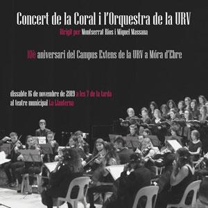 Concert de la Coral i l'Orquestra de la URV - Móra d'Ebre 2019