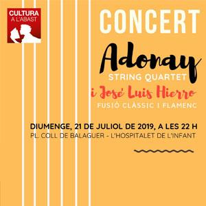Concert d'Adonay String Quartet i José Manuel Hierro