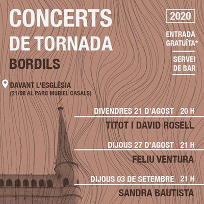 Concerts de Tornada, Bordils, 2020