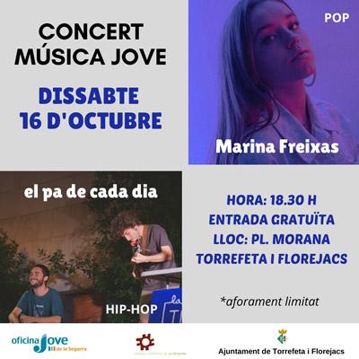 Concert de música jove a Torrefeta i Florejacs, Marina Freixes i El Pa de Cada Dia