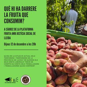 Xerrada 'Què hi ha darrere la fruita que consumim?' a La Soll, Lleida, 2019