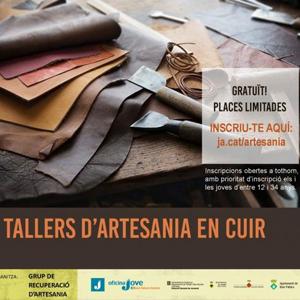 Taller d'artesania en cuir a Peramea, Baix Pallars, 2019