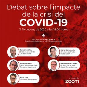 Debat sobre l'impacte de la crisi del Covid-19, Càtedra d'Emprenedoria de la URV, 2020