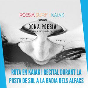 Dona Poesia, ruta en kaiak i recital de poesia