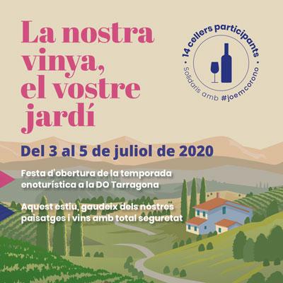 La nostra vinya, el vostre jardí, DO Tarragona, 2020