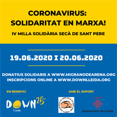 IV Milla Solidària Secà de Sant Pere, Down Lleida, Lleida, 2020
