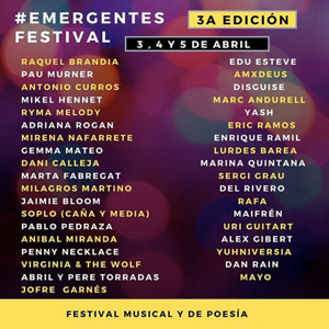 Emergentes Festival, música, poesia, online