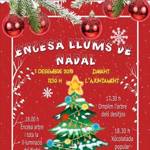 Encesa de les llums de Nadal - L'Aldea 2019
