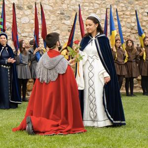 Setmana Medieval: Entrega de la Rosa, Sant Jordi, Montblanc, 2020