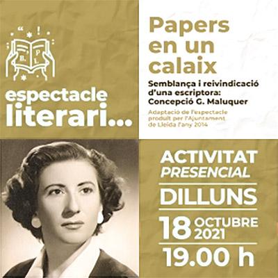 Espectacle literari 'Papers en un calaix', Biblioteca Pública de Lleida, 2021