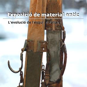 Exposició 'Material d'esquí antic'
