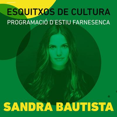 Concert de Sandra Bautista, Esquitxos de Cultura, Santa Coloma de Farners, 2020