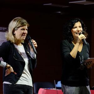 Eva Bach i Montse Jiménez