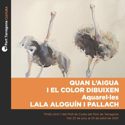 Exposició 'Quan l'aigua i el color dibuixen' de Lala Aloguín