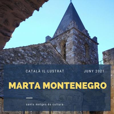 Exposició 'Català il·lustrat' de Marta Montenegro a l'Església romànica dels Sants Metges