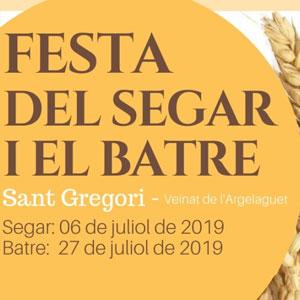 Festa del Segar i el Batre a Sant Gregori, 2019