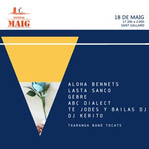 Festival Maig · Festival de Música Actual Independent del Gaià a Santa Coloma de queralt, 2019