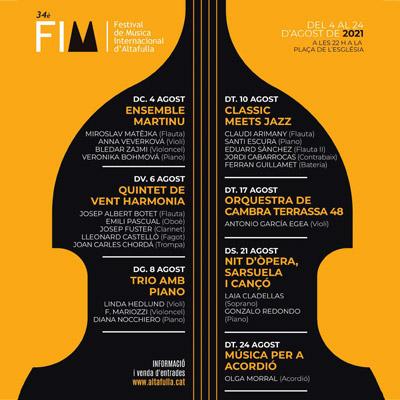 Festival Internacional de Música d'Altafulla, 2021