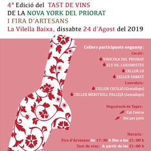 4rt Tast de Vins de la Nova York del Priorat i 1a Fira d'Artesans a la Vilella Baixa, 2019