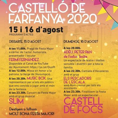 Festa Major de Castelló de Farfanya, 2020