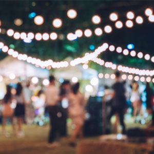 Festa major, Ball, Nit, Llums