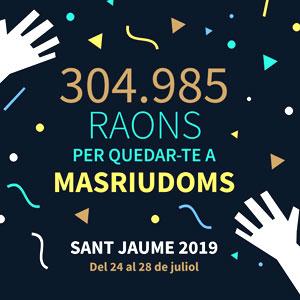 Festa major de Sant Jaume a Masriudoms, Vandellòs i L'Hospitalet de l'Infant, 2019