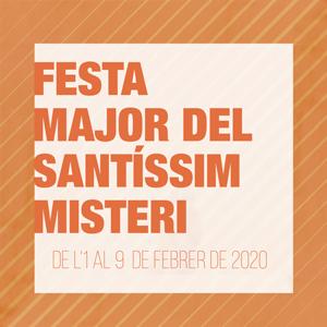 Festa Major del Santíssim Misteri a cervera, 2020