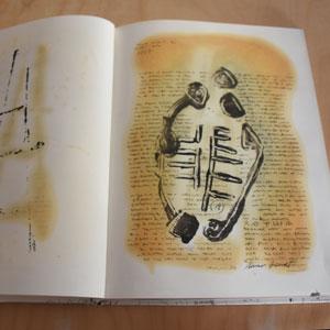 Llibre d'artista d'Àlvar Bonet inspirat en la Gessera de Caseres