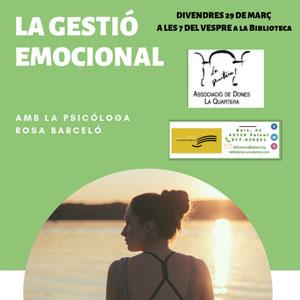 Xerrada 'La gestióemocional' a càrrec de la psicòloga Rosa Barceló a Falset