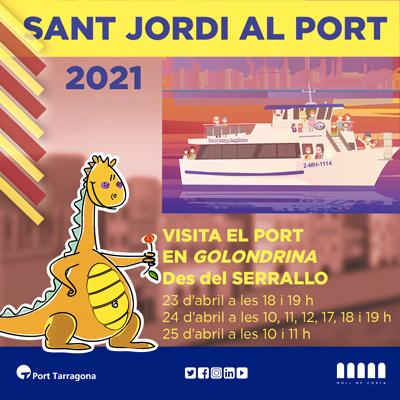 Visita el Port en Golondrina per Sant Jordi, Port de Tarragona, 2021