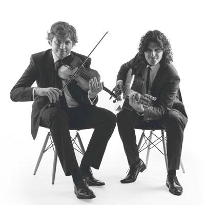 Albert Bello (guitarra)iOriol Saña (violí), jazz, músics