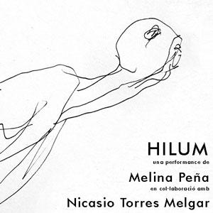 Performance 'Hilum' de Melina Peña amb Nicasio Torres Melgar