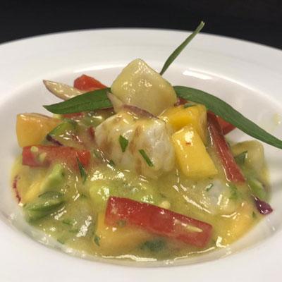 Suprema de lluç amb verduretes - Hotel Restaurant Diego